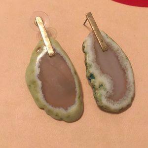 Geode rock earring